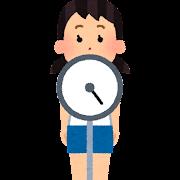 体重測定のイラスト(学校の健康診断)