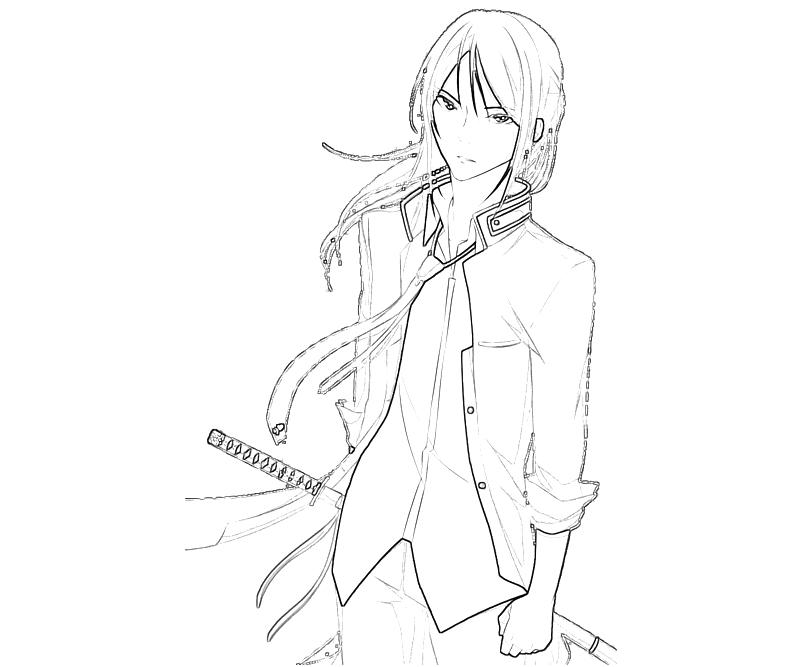printable-kuroh-yatogami-character-coloring-pages