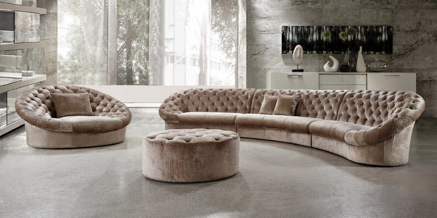 Curved Sectional Sofas For Sale: Large Curved Sectional Sofa
