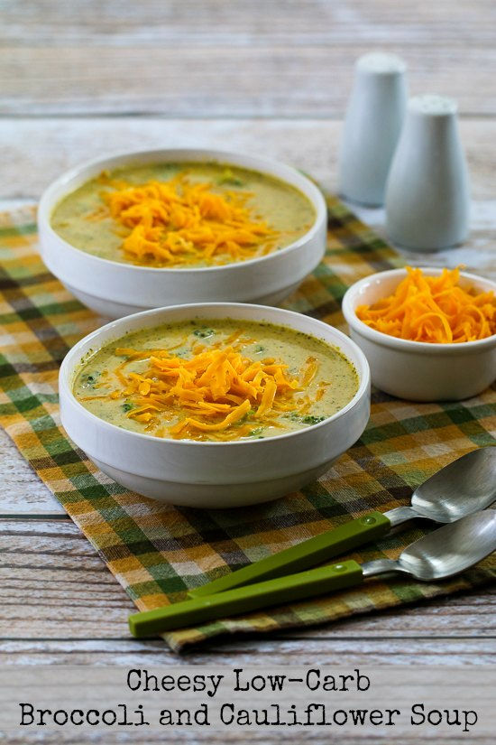 Cheesy Low Carb Broccoli And Cauliflower Soup Kalyn S