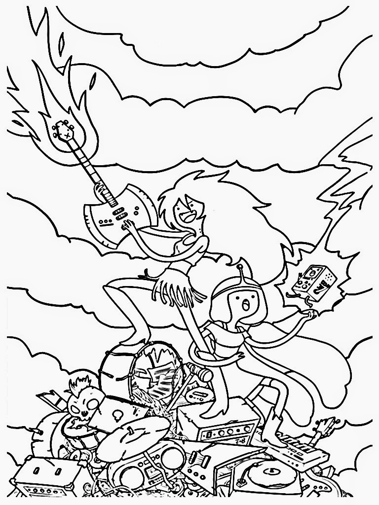 Princess bubblegum coloring pages