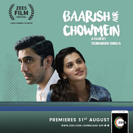 Poster Of Hindi Movie Baarish Aur Chowmein 2018 Full HD Movie Free Download 720P Watch Online