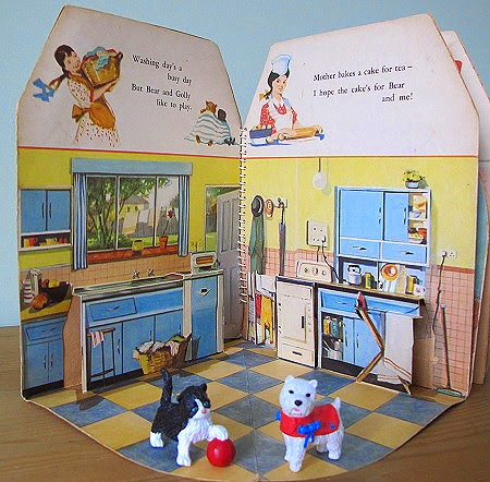 A bright sunny kitchen 1950s style