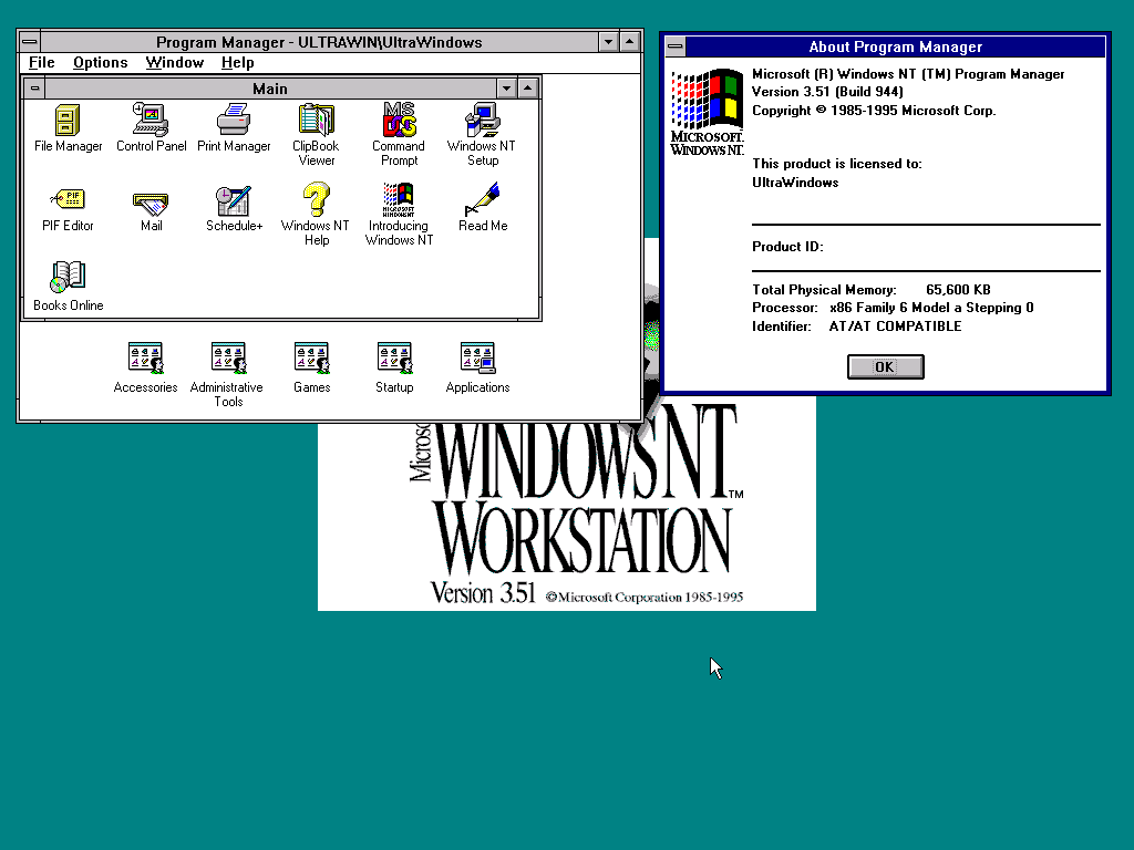 a comparison of the operating system of windows 95 and windows nt version 351