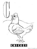 Animal Alphabet C Chicken