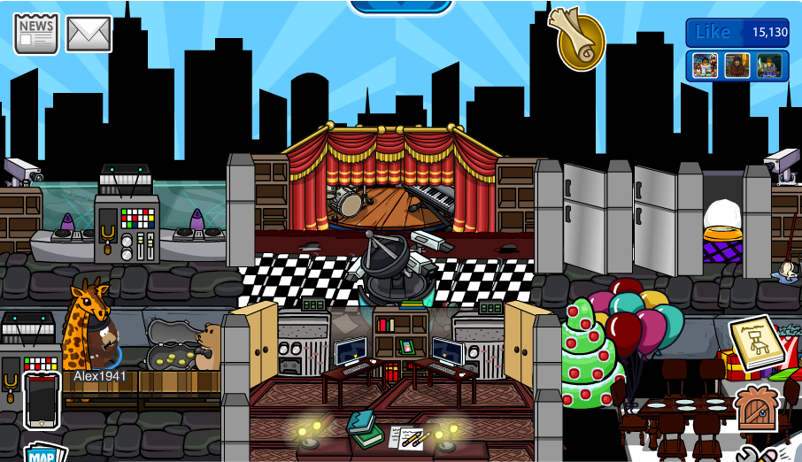 Club penguin igloo ideas freddy fazbear s pizza igloo