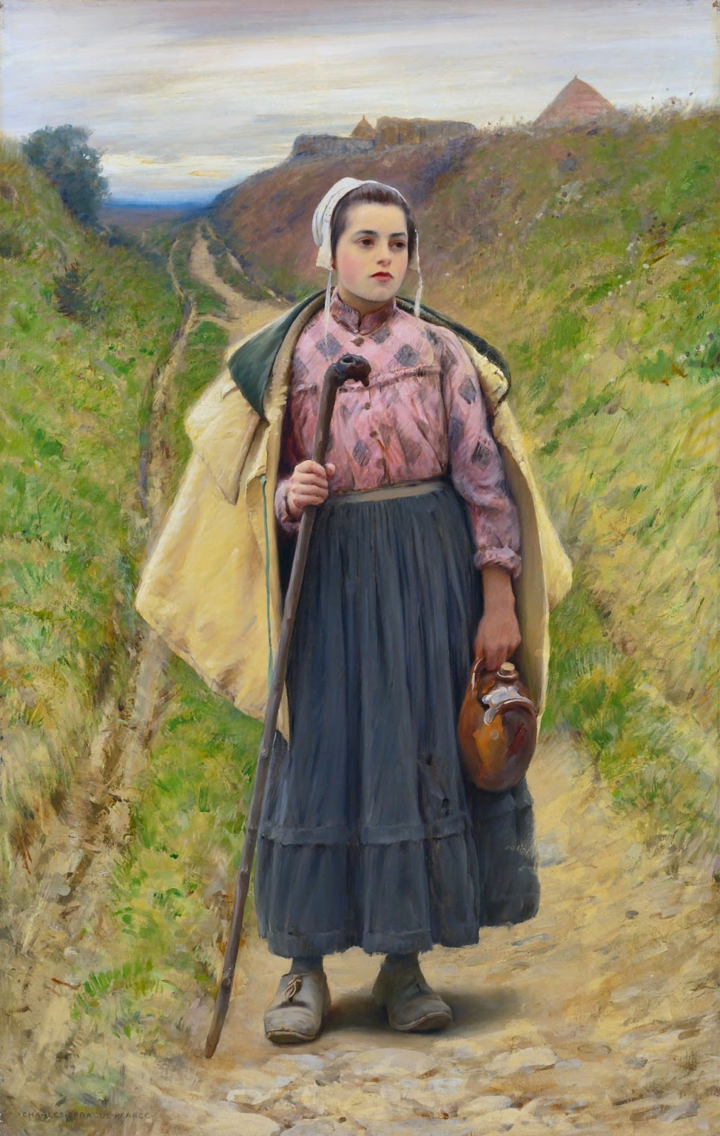 Charles  Sprague  Pearce  on  the  path