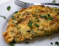 Omelete de Talos e Folhas de Couve-Flor