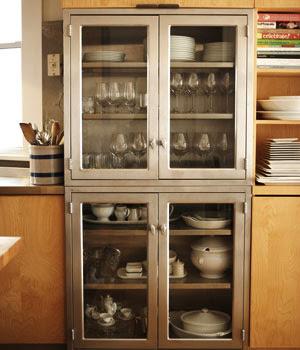 Metal cupboards on pinterest metal kitchen cabinets for Metal kitchen cabinets