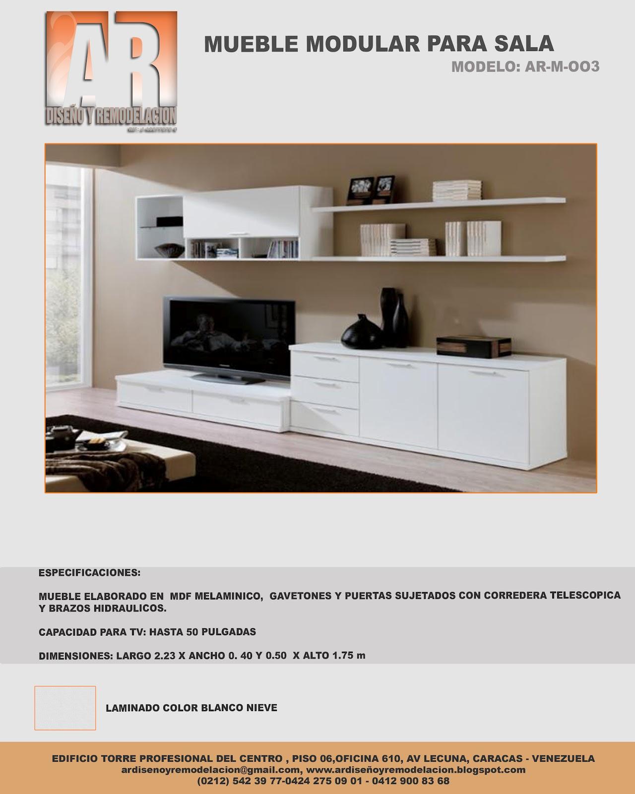 Ar dise o y remodelaci n muebles modulares para sala for Remodelacion de muebles de sala