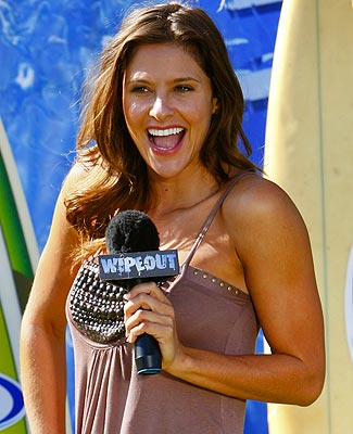 Wipeout's on-field reporter Jill Wagner (Courtesy of ABC)