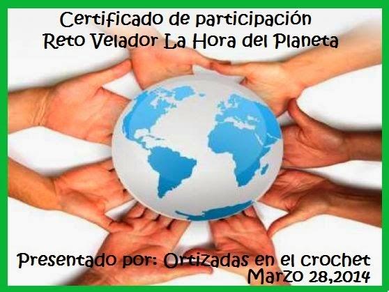 Certificado La hora del planeta