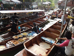 Floating market.