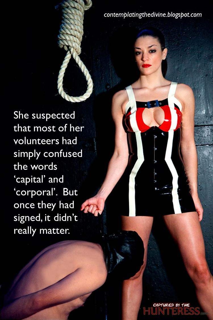 Fetish women capture males leather bondage