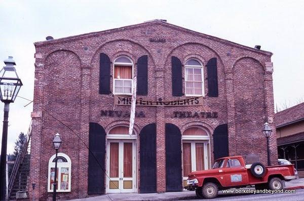 historic Nevada Theatre in Nevada City, California