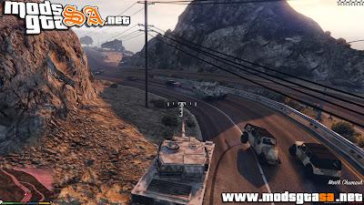 V - Mod Exército dos EUA com 5 Estrelas de Procurado para GTA V PC