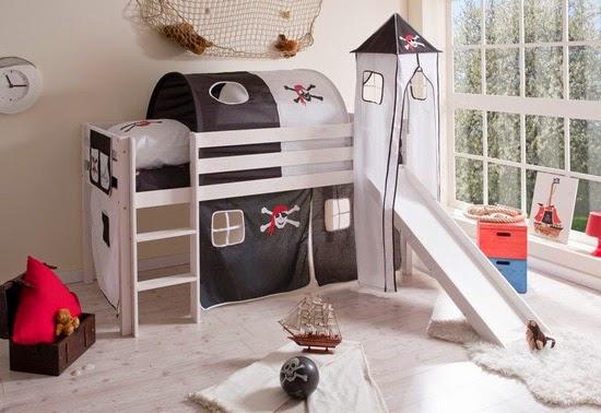 Decora hogar dormitorios con camarotes o literas modernas para ni os y ni as v deo tutorial - Camas con tobogan para ninos ...