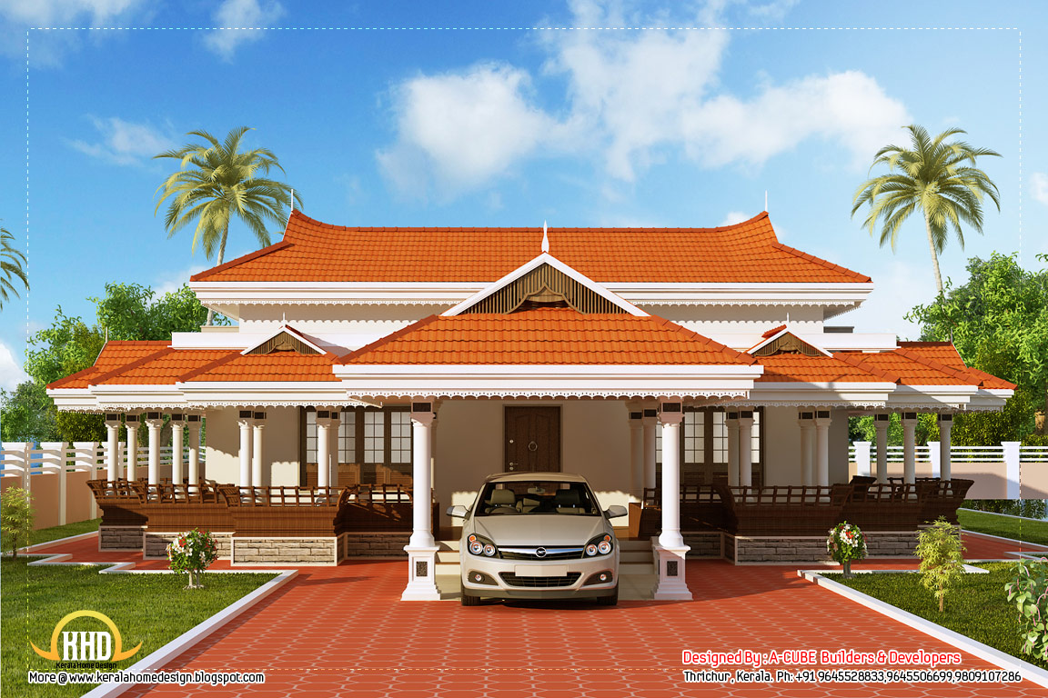 View 3 of Kerala model house design - 2292 Sq. Ft. (213 Sq. M.) (255 ...