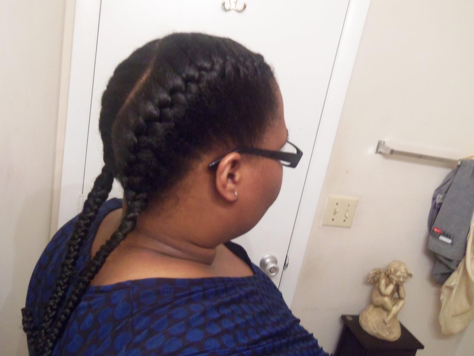 Under Braids Natural Hair