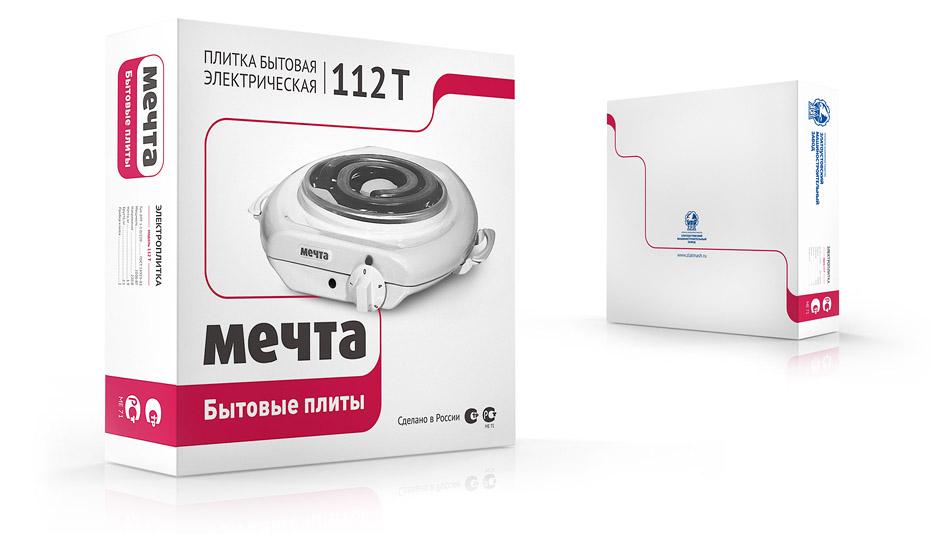 концепция дизайна упаковки бытовых плит МЕЧТА