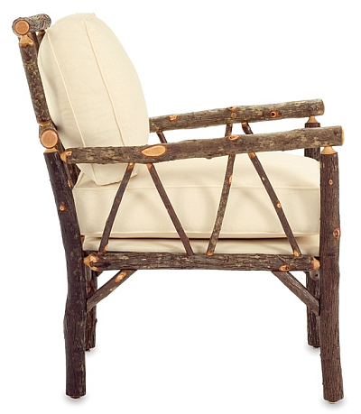 upholstered cushions on log chair