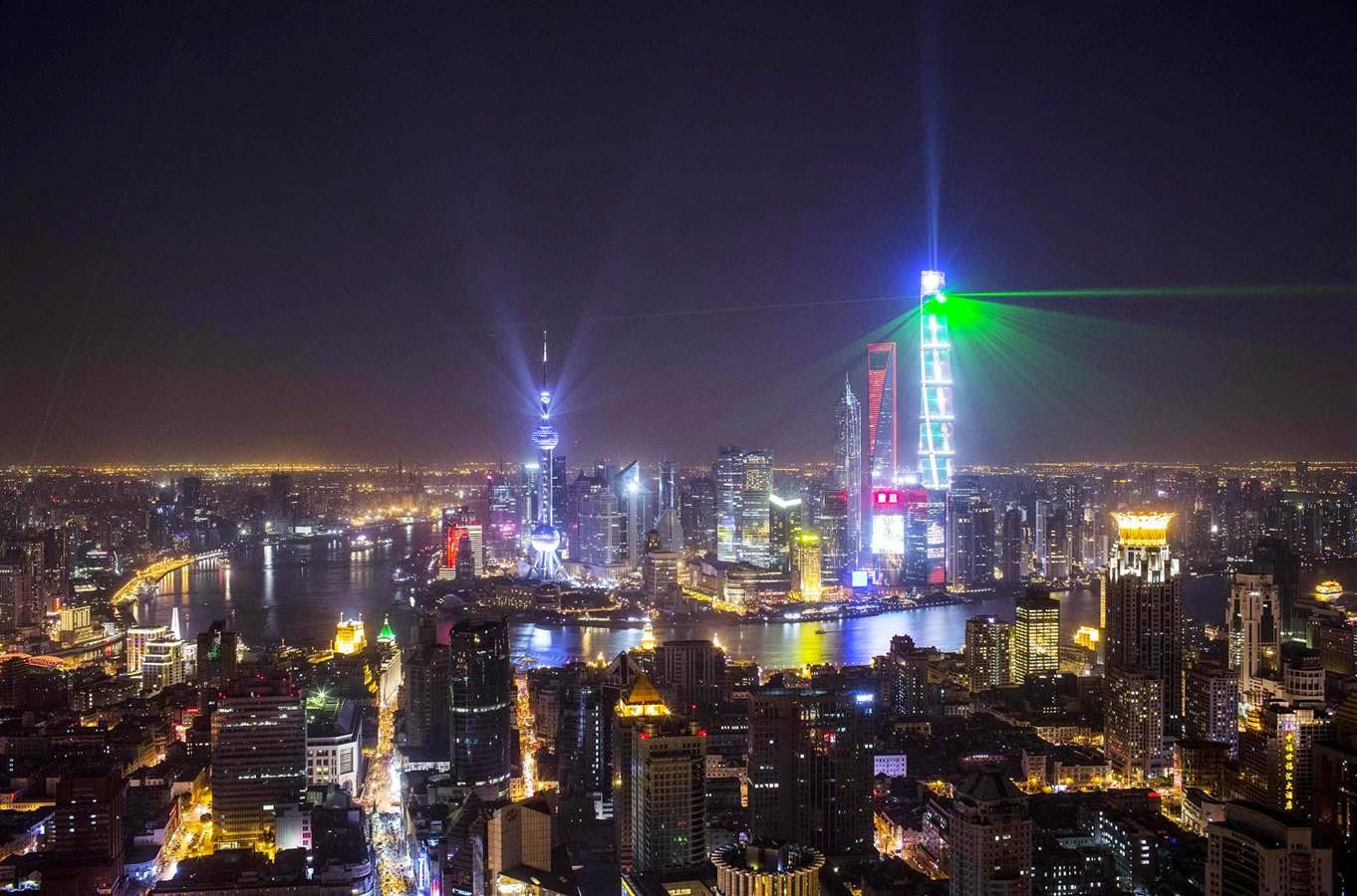 Perayaan tahun baru di Shanghai, Cina