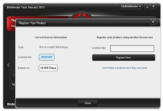 Free download Bitdefender total security, internet av plus 2013 no key