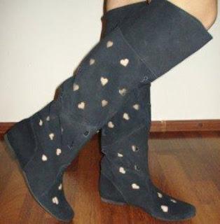 poza cu cizme de vara 2012 negre piele intoarsa