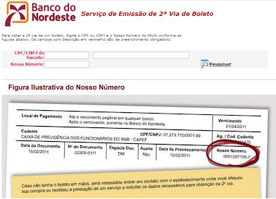 ATUALIZAR BOLETO BANCO DO NORDESTE VENCIDO 2° VIA