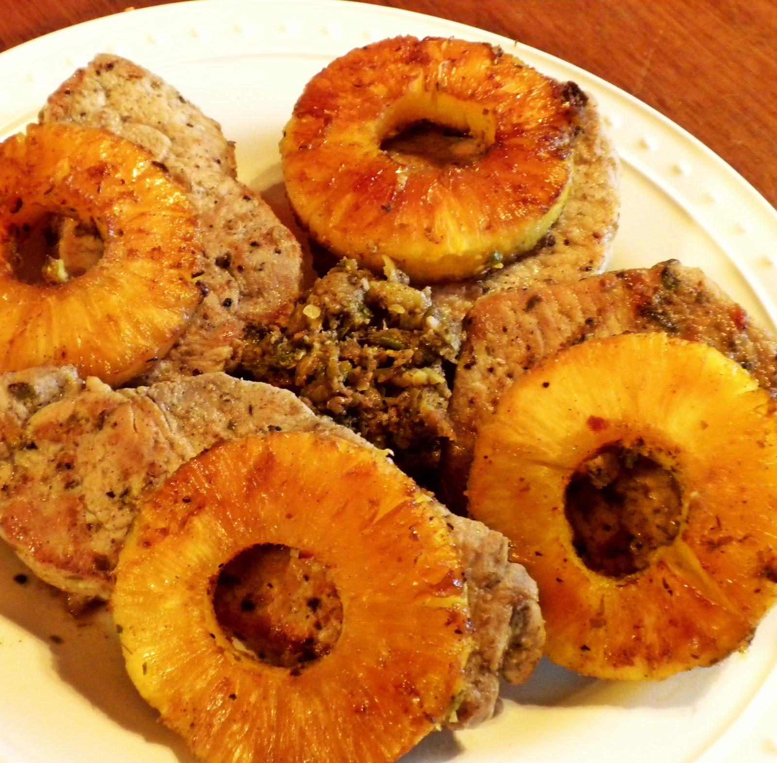 Jerk Pineapple Pork Chops Recipe — Dishmaps