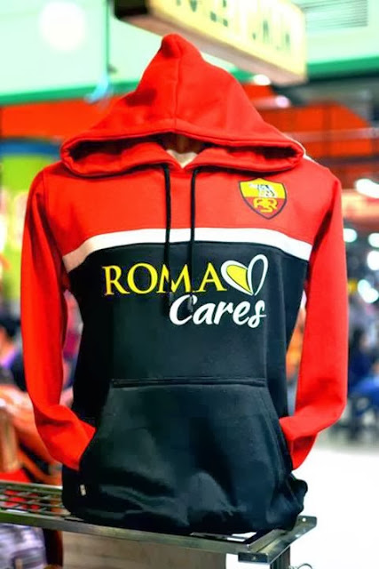 Grosir Jumper Hoodie As Roma 3d Red White Black - Big Match Jersey - Pin 32826B0C