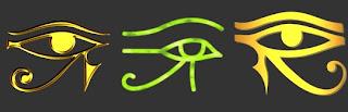 Ojo de horus Udyat símbolo protección