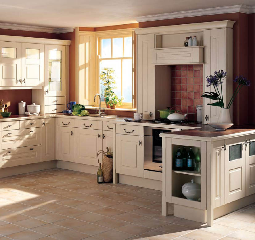 Home interior design decor country style kitchens - Country style kitchen cabinets design ...