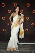 Actress Nivitha Glamorous photos in Saree-thumbnail-7