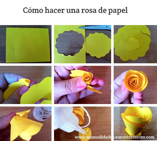 Manualidades: Cómo hacer rosas de papel sencillas