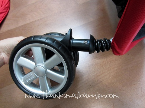 B-Agile Double Stroller front wheels