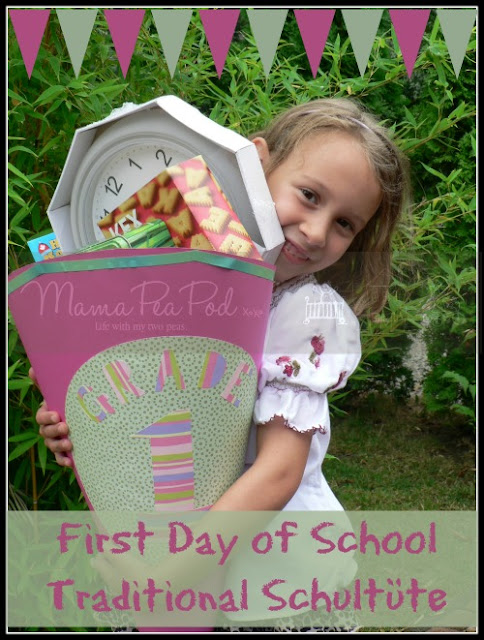 first day of school DIY schultute grade one zuckertute