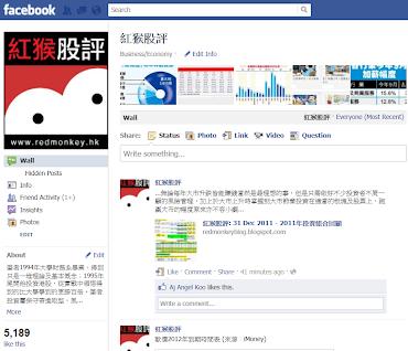 紅猴Facebook - 超過12,000個Fans (按圖瀏覽)
