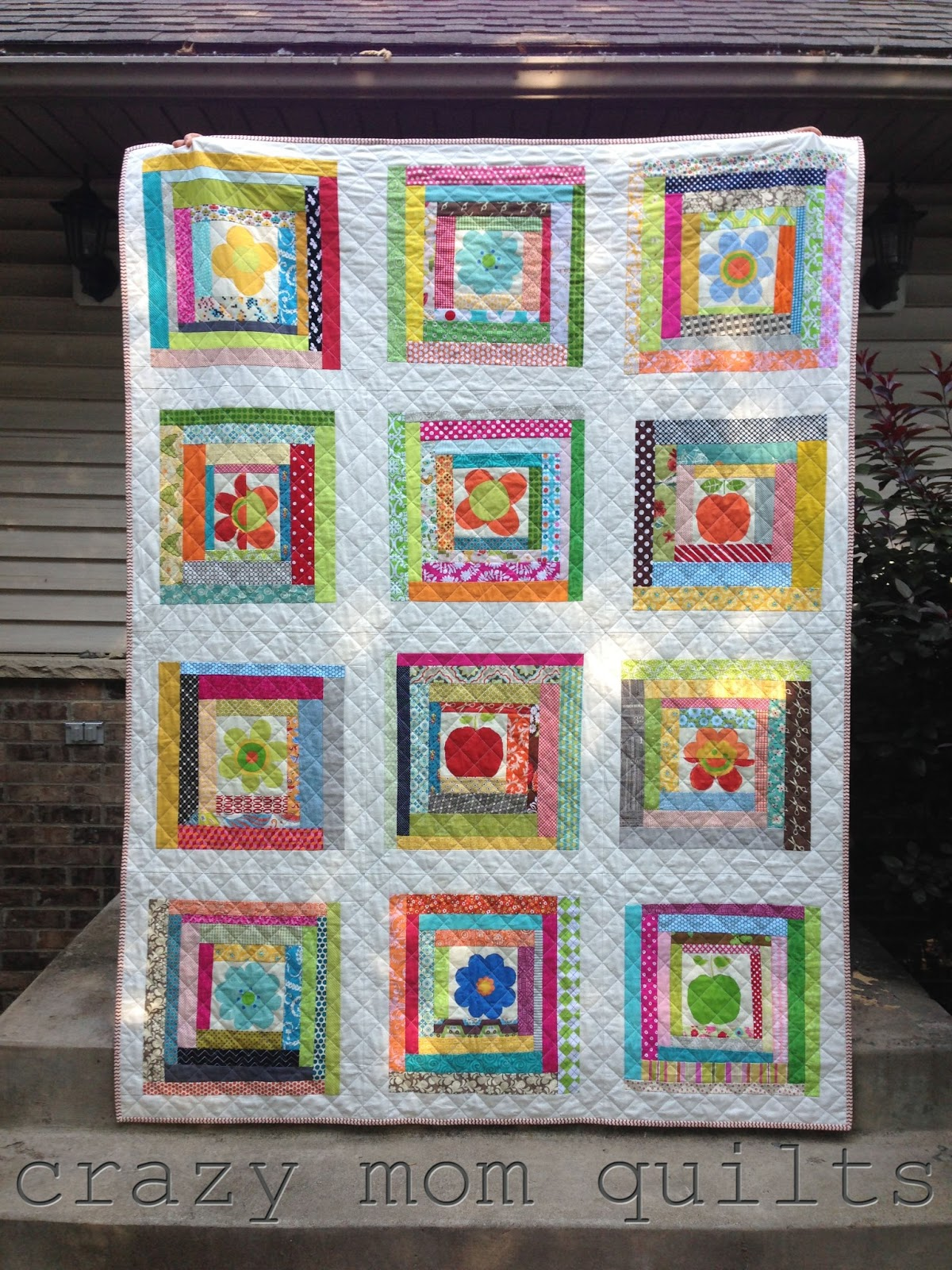 crazy mom quilts: wonky log cabin quilt : wonky quilt - Adamdwight.com