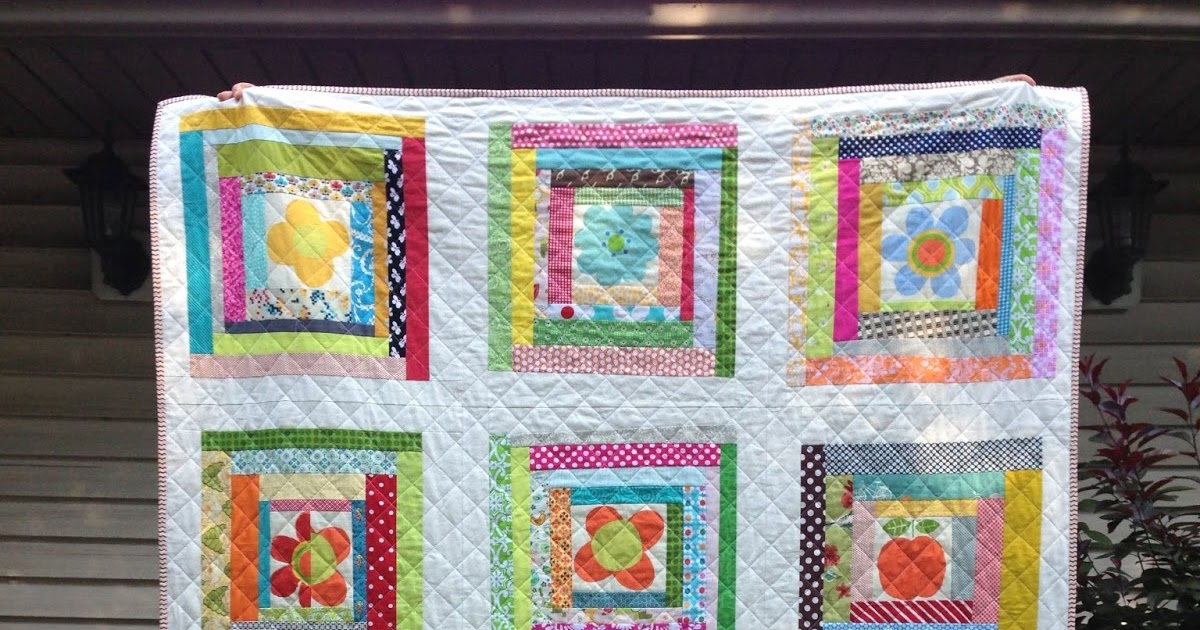 Crazy Mom Quilts Wonky Log Cabin Quilt