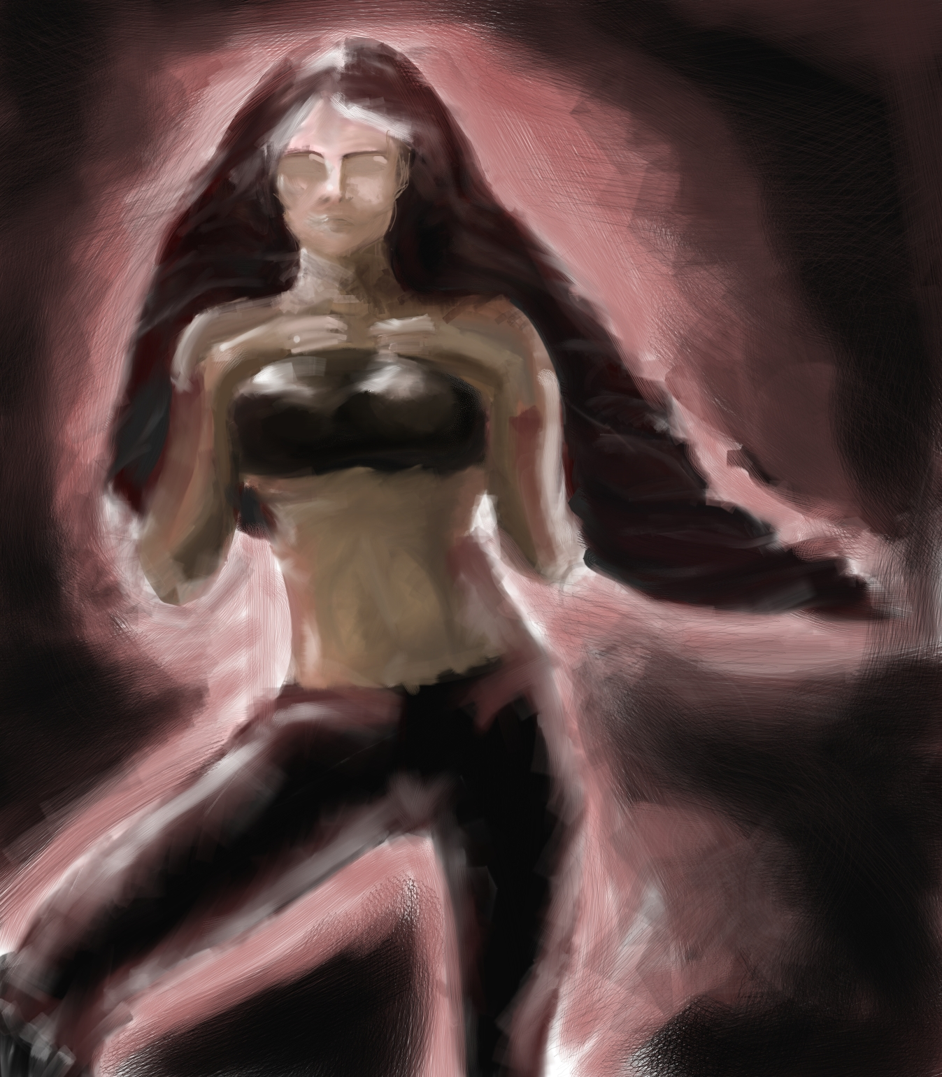 Croquis  / speed painting Abstract+pin+up
