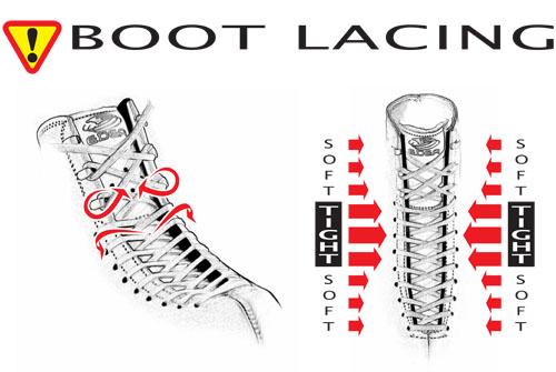 Running shoe lacing techniques : lifehacks
