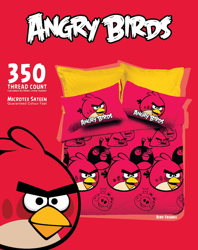 Angry Birds Bed Sheet in Malaysia title=