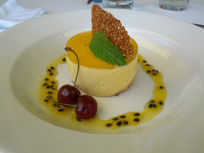 la petite ferme franschhoek south africa mango passionfruit cheesecake dessert