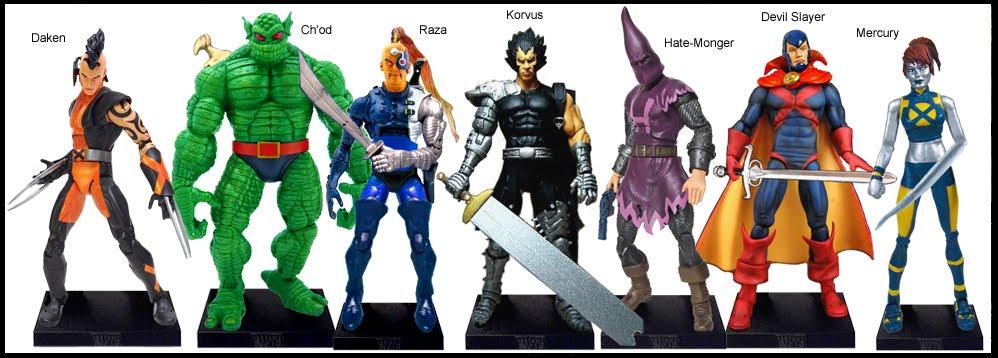 <b>Wave 29</b>: Daken, Ch&#39;od, Raza, Korvus, Hate-Monger, Devil Slayer and Mercury