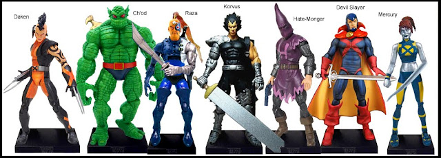 <b>Wave 29</b>: Daken, Ch'od, Raza, Korvus, Hate-Monger, Devil Slayer and Mercury