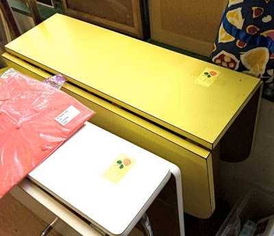 Vintage yellow formica table