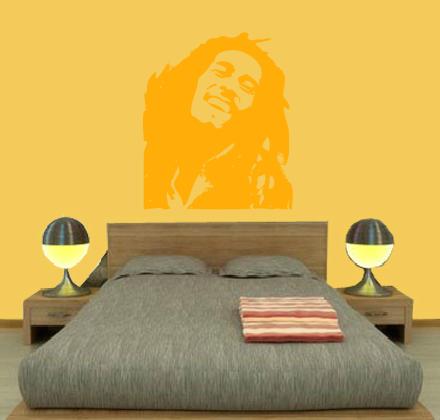Quekukos vinilo Bob Marley amarillo