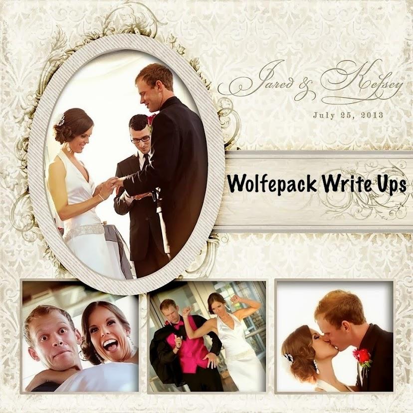 Wolfepack Write Ups