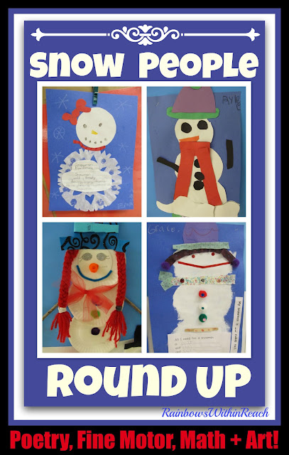 All Things Snowman: Poetry, Fine Motor, Math + Art at RainbowsWithinReach